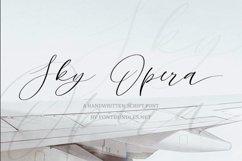 Web FontSky Opera. A Handwritten Script Font Product Image 1