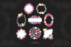 Watercolor roses and gems frames Product Image 3