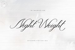 Night Weight Script Product Image 1