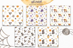 Halloween Watercolor. Clipart, cards, patterns, frames Product Image 6