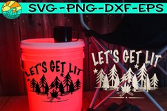 Let's Get Lit - Camping Bucket - Welcome Mat Product Image 1