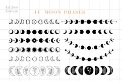 Moon phases svg, Celestial svg, Magic and Mystical svg Product Image 2