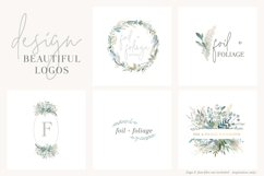 Foliage and Foil Botanical Clipart Product Image 5