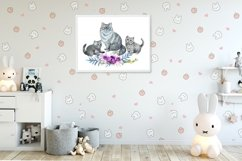 Mom and baby animals, watercolor clipart,Mothers day Product Image 5
