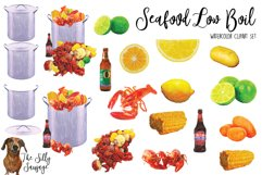 Seafood Low Country Boil Watercolor Clipart Product Image 2