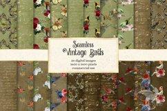 Vintage Birds Digital Paper Product Image 1