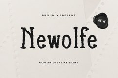 Newolfe Display Font Product Image 1