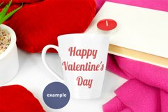 Latte Mug Mockup Valentine's Day PSD & JPG full wrap mockup Product Image 3