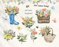 Summer Wildflowers Clipart Watercolor Floral Bicycle Bee Product Image 6