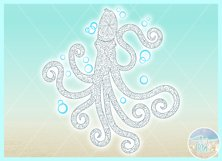 Octopus Mandala Zentangle Svg Dxf Eps Png Pdf Files Product Image 2