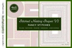 Stitched Nesting Shapes V2 Fancy Stitches   sketch foil SVG Product Image 1