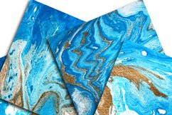 Marble Background Blue and Gold Product Image 2