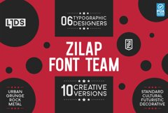PACK PROMO 5 Zilap Font Team Product Image 1