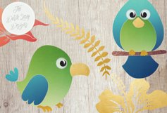 Tropical Parrots & Birds Clipart Set Product Image 5