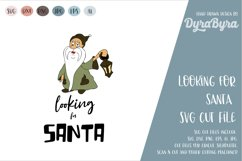 Looking for Santa SVG / Gnome SVG / Christmas Cut File Product Image 1
