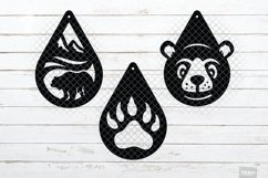 Bear Earrings SVG Designs in SVG, DXF, PNG, EPS, JPEG Product Image 2