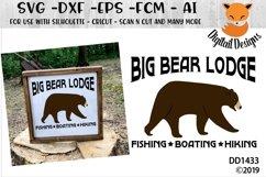 Big Bear Lodge SVG Product Image 1
