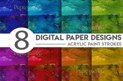 Acrylic Paint Strokes Digital Paper Bundle Product Image 1