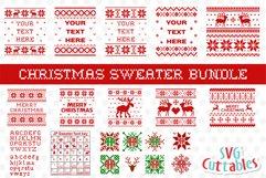 Christmas SVG Bundle   Christmas Sweater SVG Product Image 1