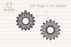 Sunflower Earrings mini SVG Bundle, Sunflower Clipart, Earri Product Image 2