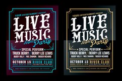 Live Music Typography Poster Flyer Product Image 1