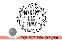 My Baby Has Paws SVG Product Image 1