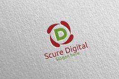 Secure Digital Letter D Digital Marketing Logo 80 Product Image 4