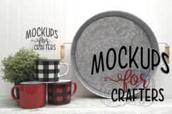 Round Metal Tray Mock-Up - Dollarama Product Image 1