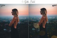 60 Golden Bokeh lights Effect Photo Overlay, Wedding Overlay Product Image 5