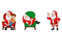 Set of Seven Cartoon Santa Claus Product Image 2