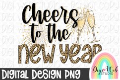 Cheers To The New Year Sublimation Design Product Image 1