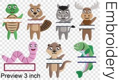 Split Hi Animals - Embroidery Files - 1482e Product Image 2