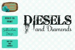 Diesels and Diamonds Sublimation Design Product Image 1