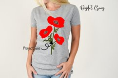 Poppy flowers SVG / EPS / DXF / PNG files Product Image 5