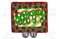 Merry Leopard Print Christmas Clipart Product Image 1