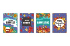 Autumn posters. Flyers and greeting cards with fall foliage Product Image 1