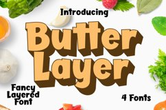 Butter Layer - 4 Fonts Product Image 1