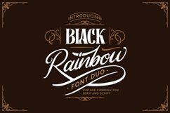 Black Rainbow | Font Duo Vintage Serif and Script Product Image 1