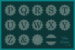 Foil Quill | Single Line | Sketch Mandala Monogram Alphabet Product Image 4