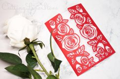 Roses wedding invitation template, Svg files for cricut Product Image 1