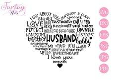 Husband Word Art - Svg Cut Files Product Image 1