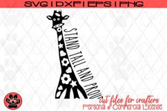 Doodle Giraffe - Stand Tall and Proud | SVG Cut File Product Image 2