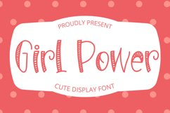 Girl Power - Cute Display Font Product Image 1