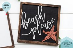 Beach Please, Summer SVG, Cute Starfish Cut File Product Image 3