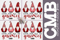 Love All My Gnomies PNG File / Sublimation Clipart File Product Image 1
