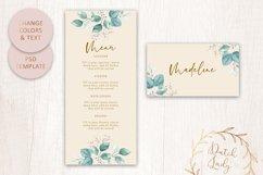 PSD Wedding Menu & Place Card Template - #1 Product Image 4