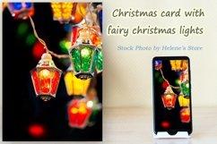 Fairy christmas lights garland on black background. Bundle Product Image 4