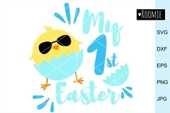 My First Easter BOY Svg, 1st Easter Chicken, Happy Easter Product Image 1