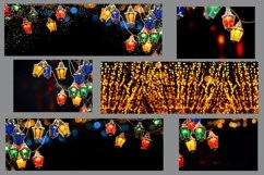Fairy christmas lights garland on black background. Bundle Product Image 3