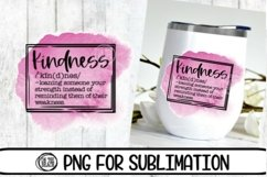 Kindness - Watercolor - Tumbler - 300 DPI PNG- Sublimation Product Image 1